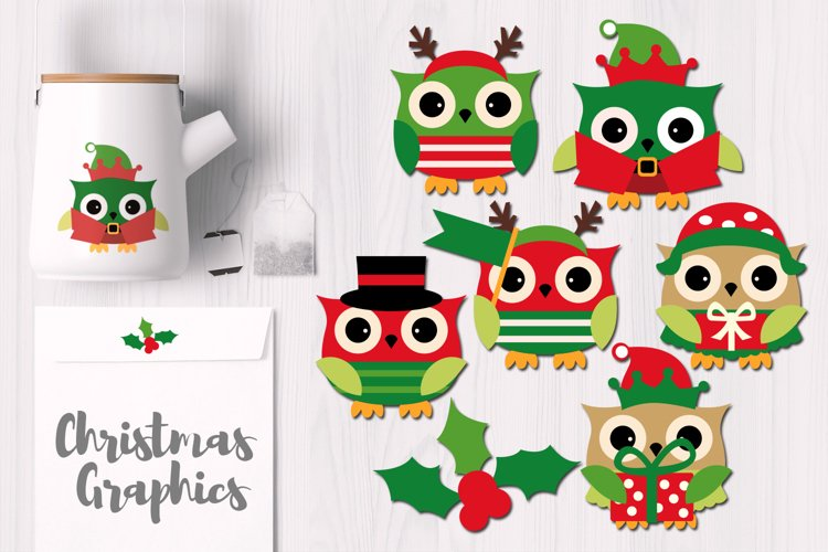 Owl December Christmas Graphics example image 1