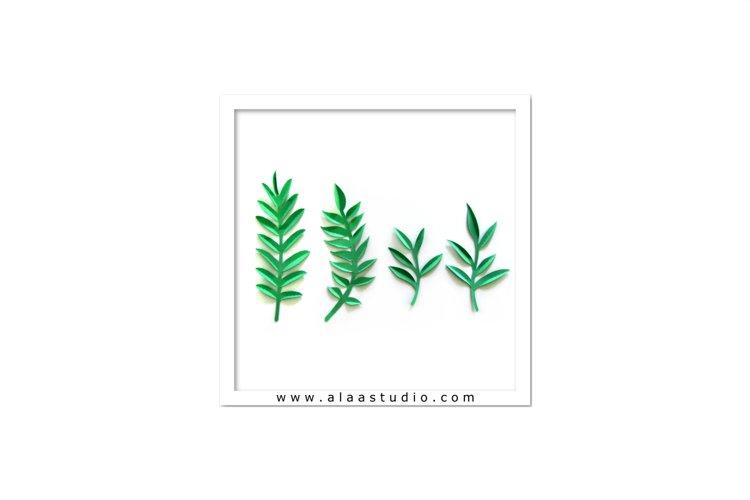3D Large/ small flowers leaves vines set 3, SVG, PDF, SILHOUETTE STUDIO Formats