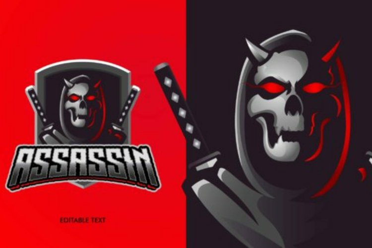 Reaper assassin mascot logo example image 1