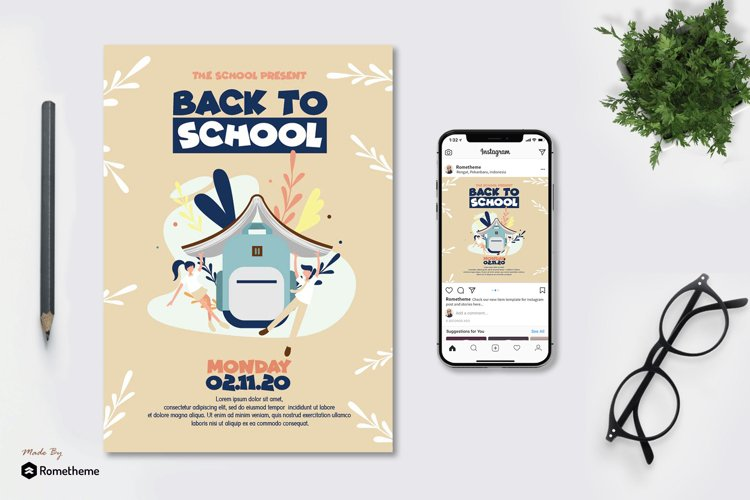 Back To School Poster vol.01 AS example image 1