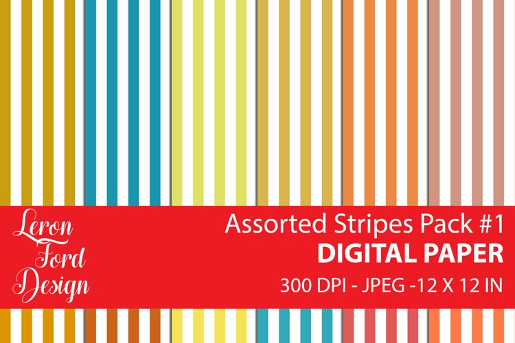 Assorted Stripes Pack #1 Digital Paper example image 1