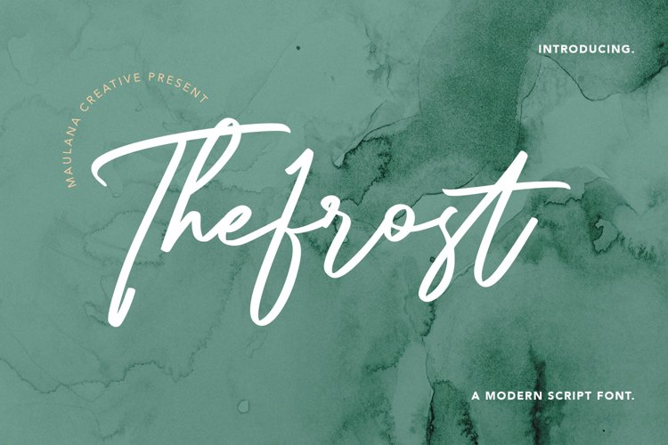 Thefrost Modern Script Font example image 1