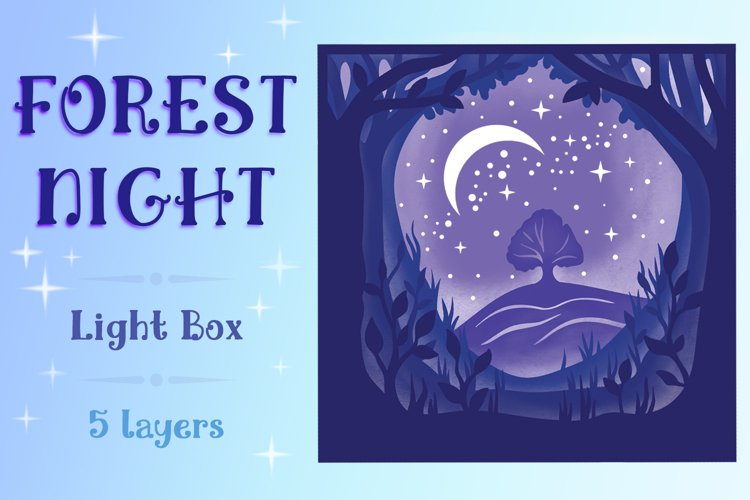 Forest Night Light Box - 5 layers