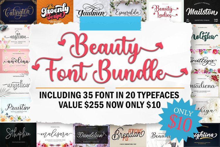 Beauty Font Bundle