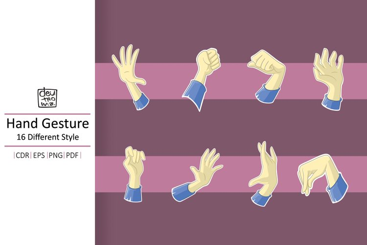 Cartoon Hand Gesture Vector - EPS CDR PDF PNG example image 1