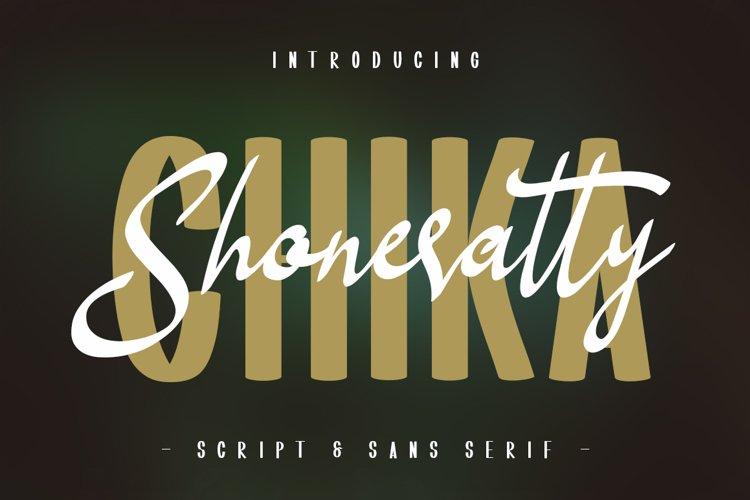 Shoneratty Chika Typeface example image 1