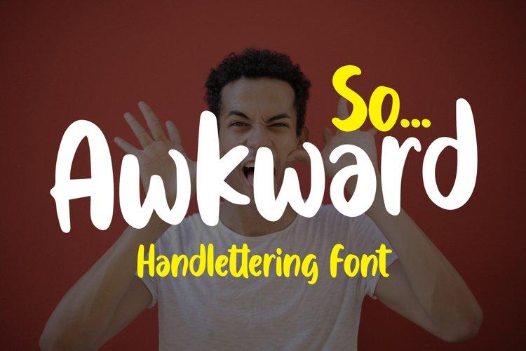 Awkward - Handlettering Font example image 1