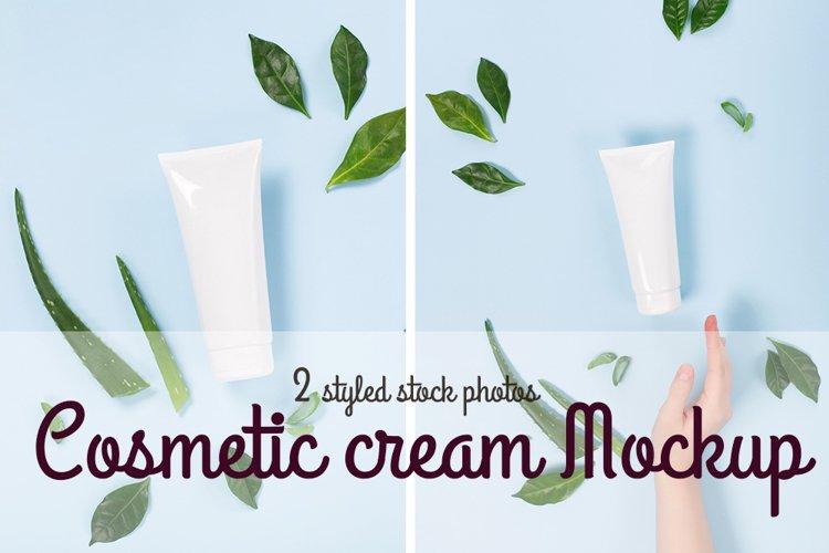 Cosmetic facial cream mockup