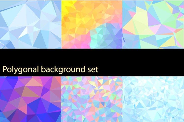 Polygonal background set example image 1