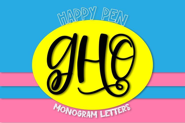 Happy Pen - A Monogram Font example image 1