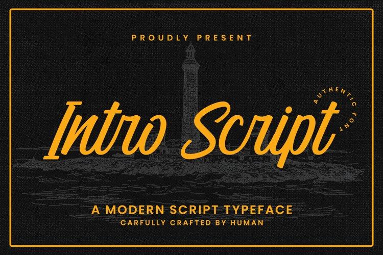 Intro Script example image 1