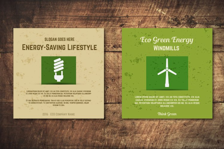 5 Eco Poster Concepts & Stickers example 1