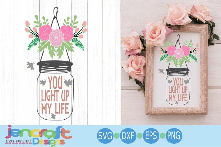 Wedding Svg, Bride Groom Reception design, Floral Jar svg example image 1