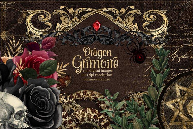 Dragon Grimoire Digital Scrapbooking Kit