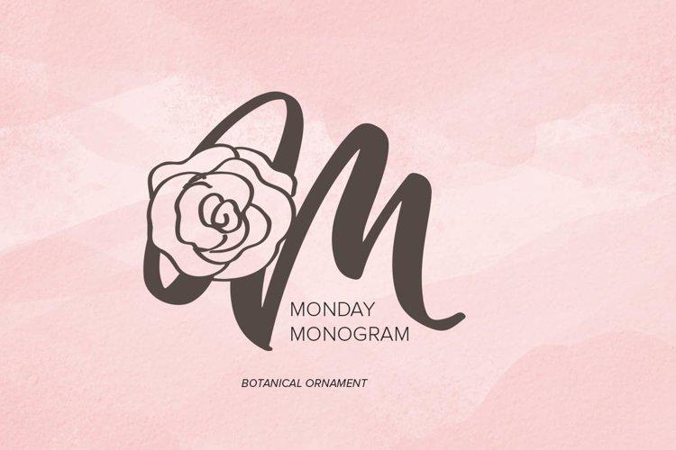 Monday Monogram example image 1