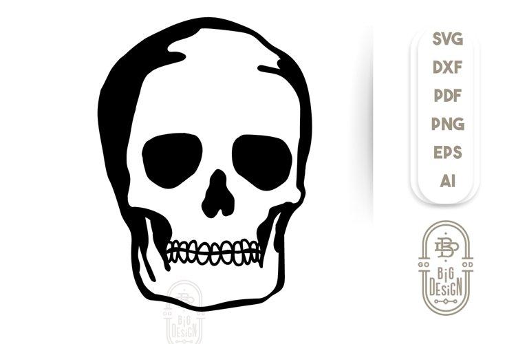 Skull SVG File - Cranium SVG File - Skeleton Illustration example image 1