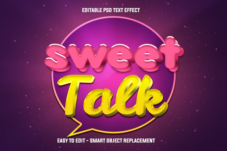 sweet talk podcast text effect example image 1