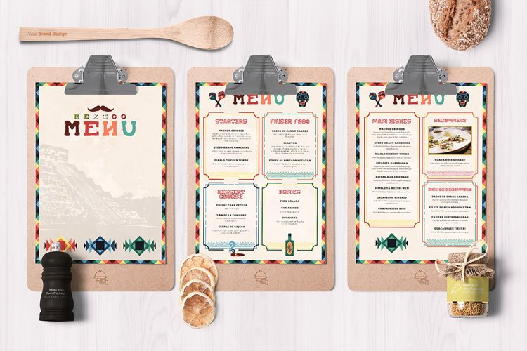 Mexican Food Menu Template example image 1