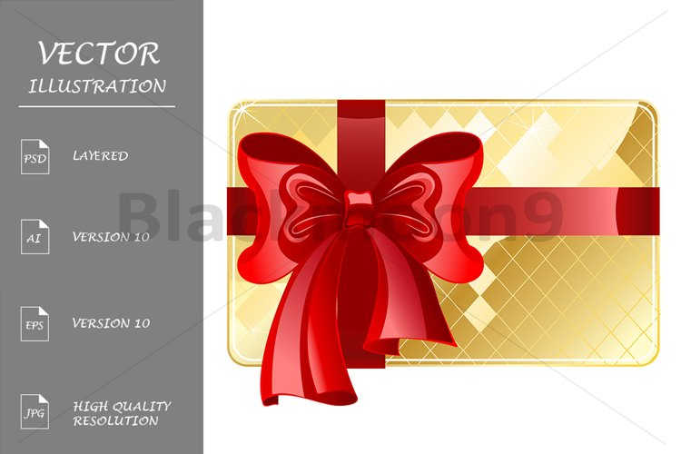Gold Card with a Red Ribbon example image 1