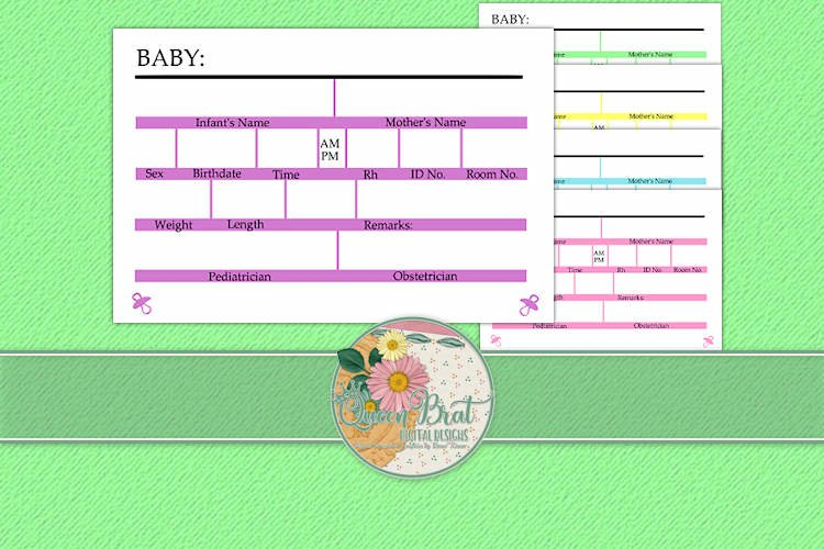 It's A Baby Crib Cards example image 1
