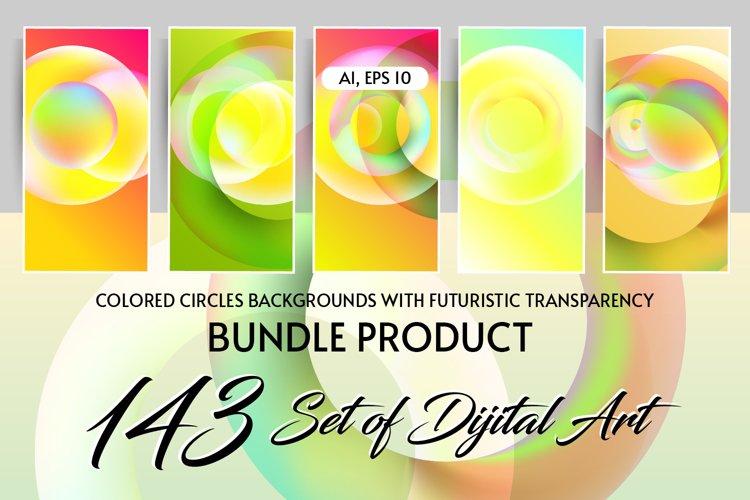 Set of 143 dijital art colored backgrounds Ai Eps Jpg
