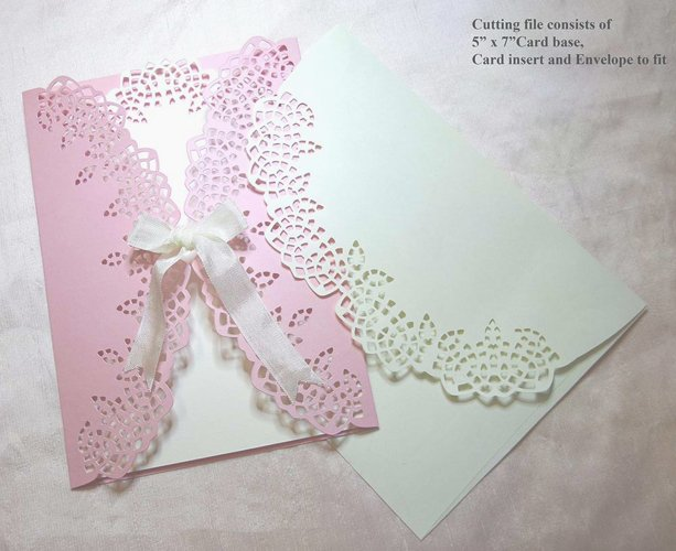 Filigree look gate fold card  example image 1