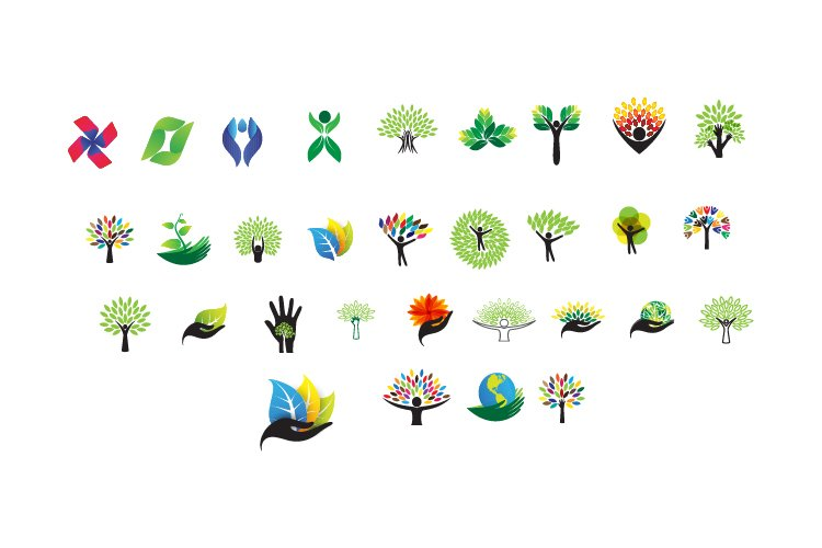 eco logo icon and abstract logo example image 1