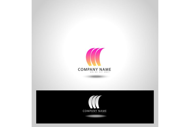 Abstract trendy curve of in swoosh stylised, vector and logo example image 1