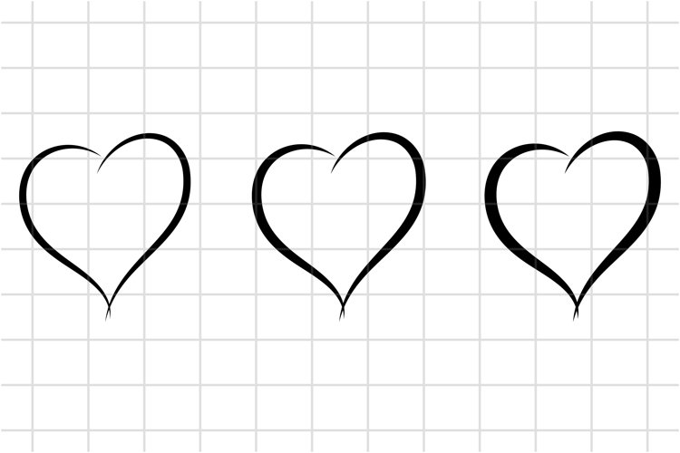 Heart SVG cut file. Love, Happy Valentines Day Cutting Set example image 1