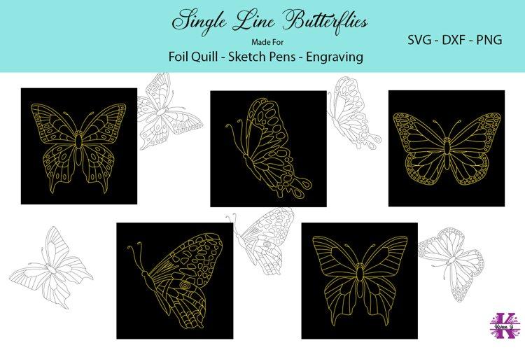Butterflies |Foil Quill|Single Line Designs