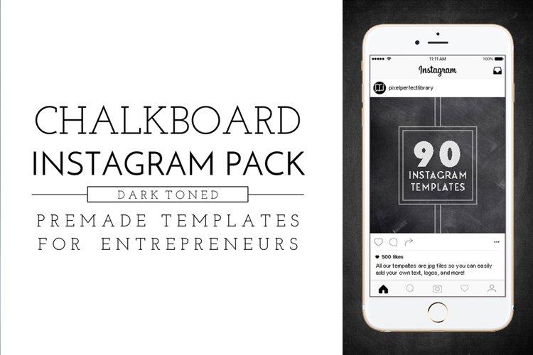Dark Chalkboard Instagram Pack example image 1