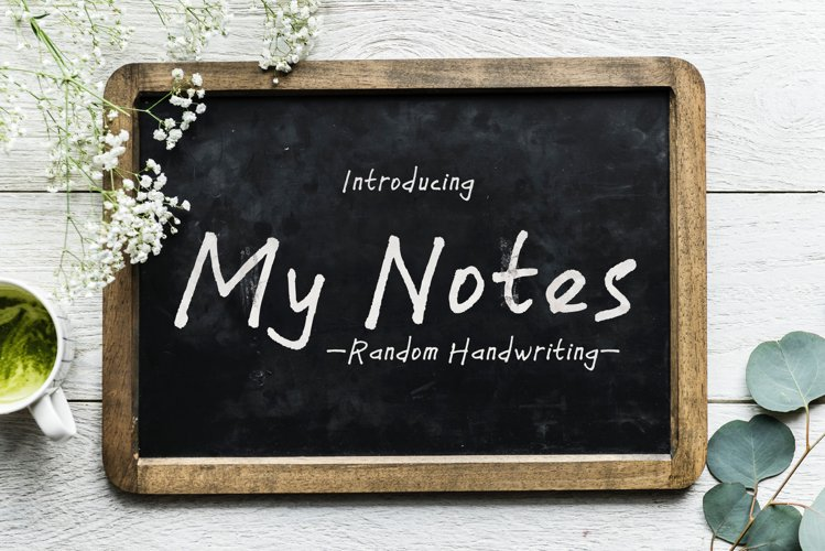 My Notes - a handwritten font example image 1