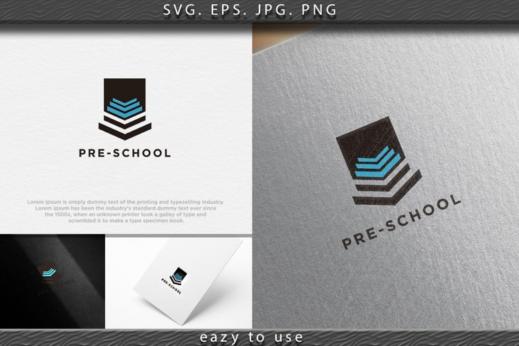 pile of book, pre school logo Designs Inspiration Isolated o example image 1