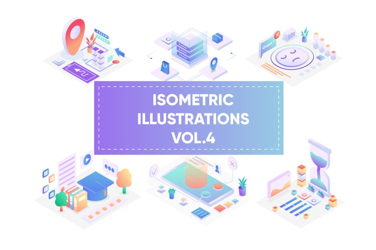 Isometric illustrations for web vol 4