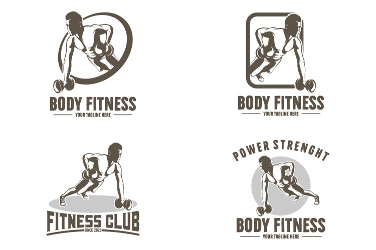 Collection of gym and fitness logo example image 1