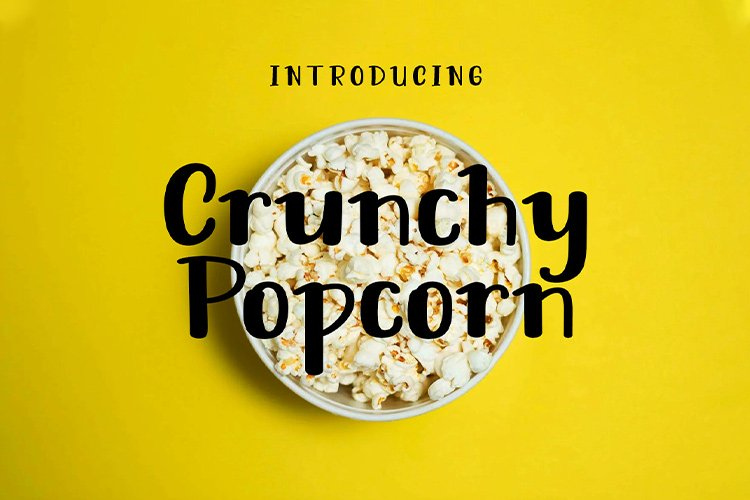 Crunchy Popcorn || cute display font example image 1