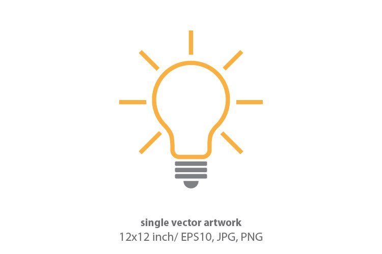 light bulb, vector example image 1