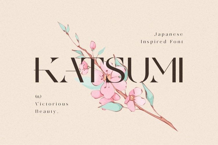 KATSUMI - Japanese Font example image 1
