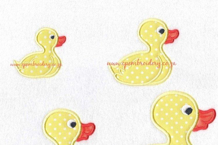 Rubber Duck Silhouette Applique Design example image 1