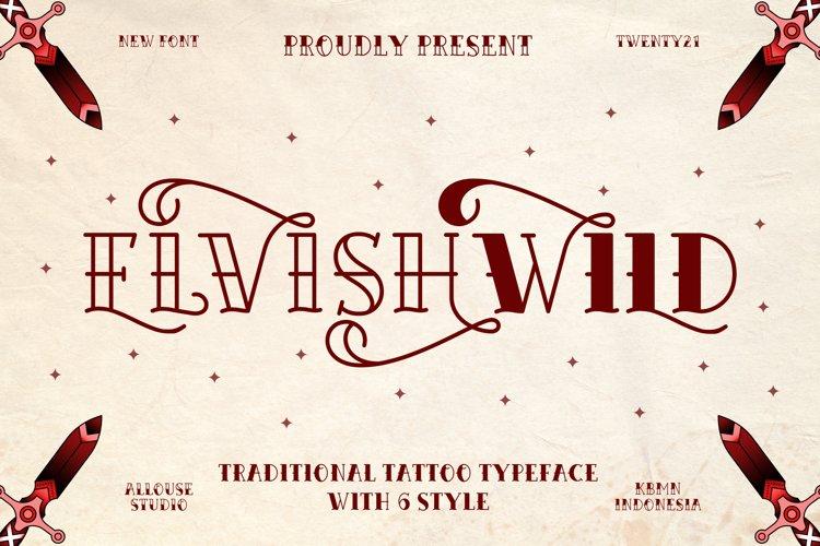 Web Font - Elvishwild example image 1