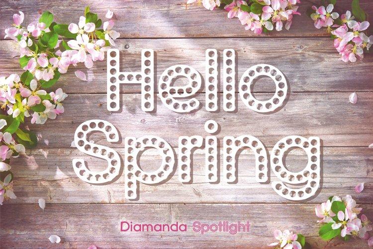 Diamanda Spotlight - Retro Stage Font example image 1