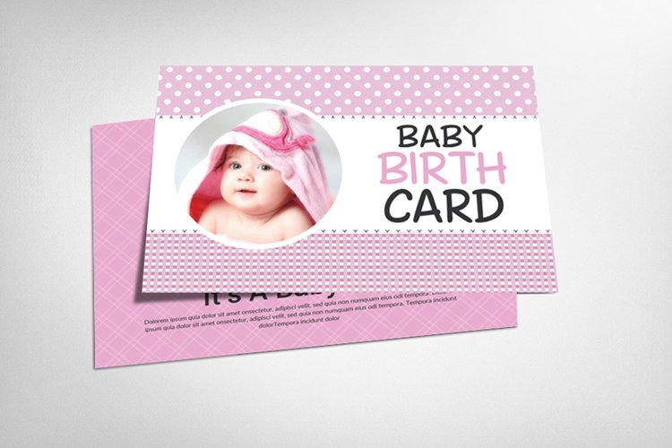 Baby Birth Card example image 1