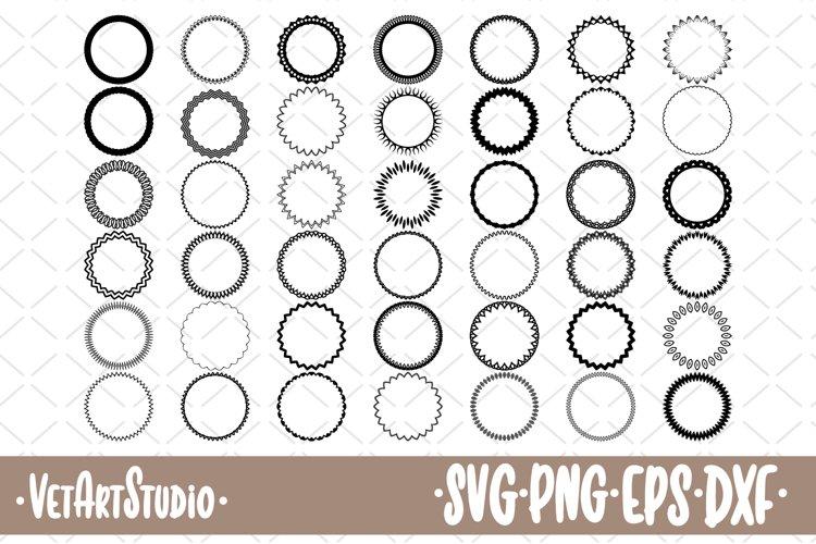 Download 42 Round Frames Circle Border Svg 455598 Monograms Design Bundles