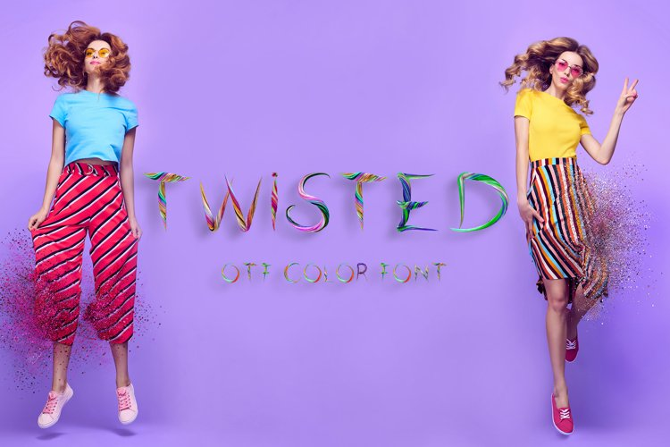 Twisted - otf color font