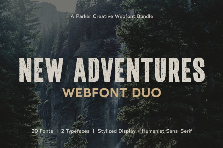 Adventures Font | Rugged Font Duo