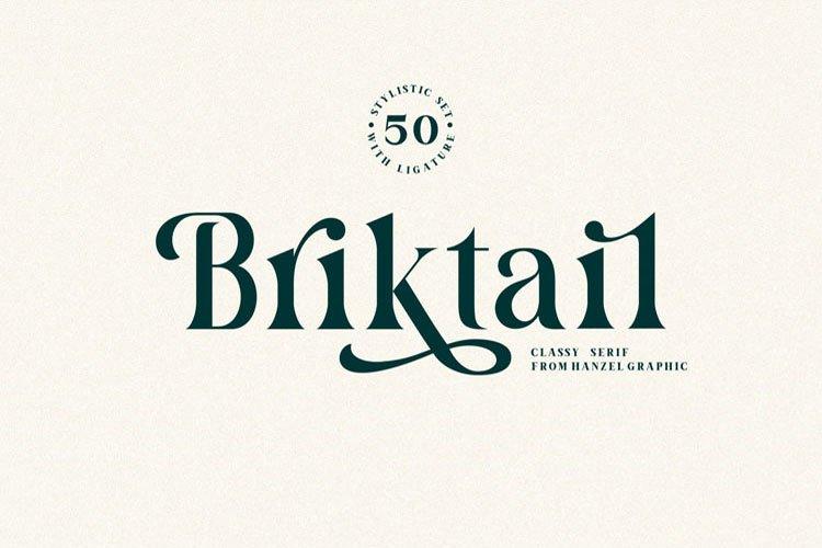 Briktail//Modern Serif Font
