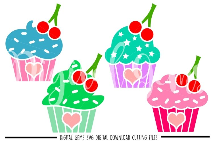 Cup cake SVG / PNG / EPS / DXF files example image 1
