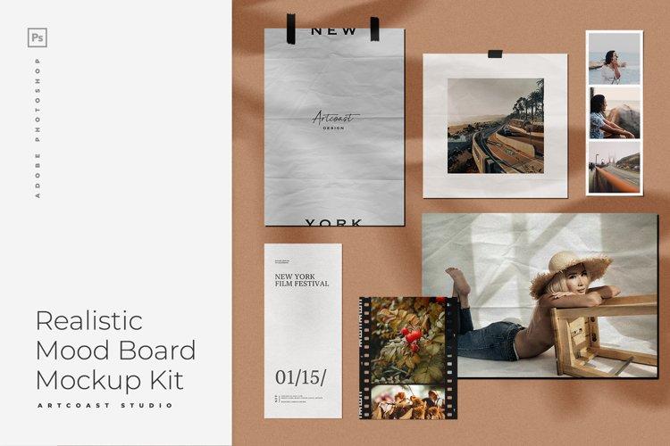 Realistic Moodboard Mockup Kit