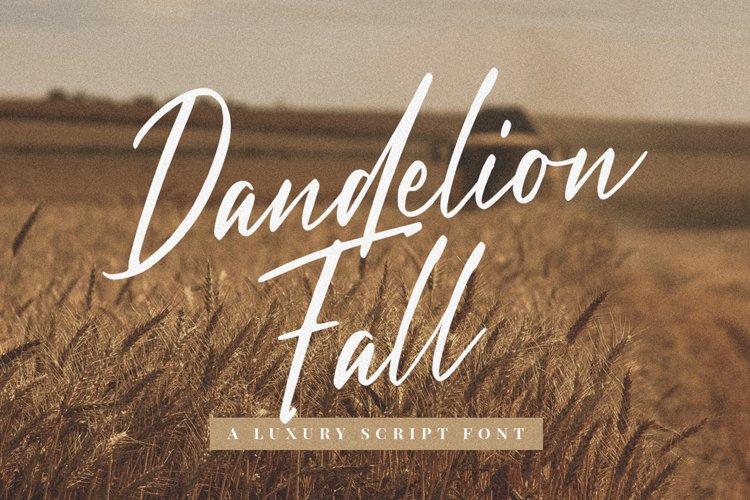 Dandelion Fall - Script Font example image 1