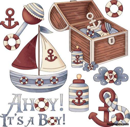 Ahoy! Its a Boy 1 Clip Art